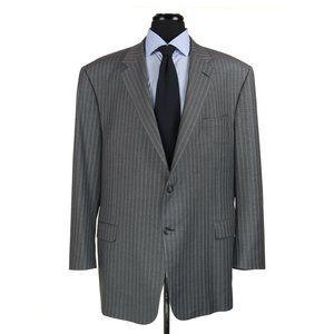 Hickey Freeman Custom Made Wool Suit 52L Gray